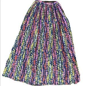 Vintage Miss Elaine floral maxi prairie skirt